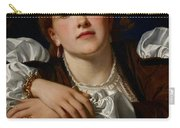 I Know A Maiden Fair To See Carry-all Pouch by Charles Edward Perugini