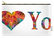 I Love You 17 - Heart Hearts Romantic Art Carry-all Pouch