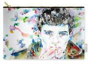 Ian Curtis Smoking Cigarette Watercolor Portrait Carry-all Pouch