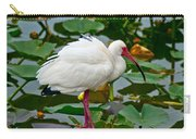 Ibis In Pond Carry-all Pouch