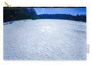 Ice And Snow Frozen Over Lake On Sunny Day Carry-all Pouch