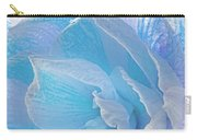 Ice Blue Amaryllis Abstract Carry-all Pouch