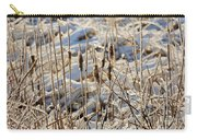 Ice Coated Bullrushes Carry-all Pouch
