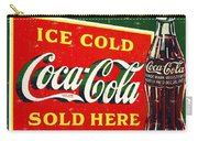 Ice Cold Coca-cola Sold Here Carry-all Pouch