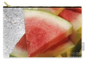 Ice Cold Watermelon Slices 1 Carry-all Pouch by Andee Design