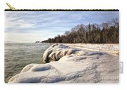 Ice Covered Shores Of Lake Michigan Carry-all Pouch