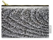 Ice Crystals On Wood Railing Carry-all Pouch