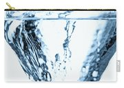 Ice Cube Splashing Into Water Carry-all Pouch