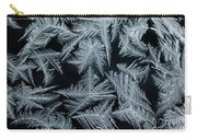 Ice-flowers Frost Pattern Tracery On Frost Window Carry-all Pouch