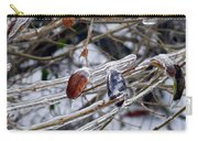 Ice Incased Leaves Carry-all Pouch