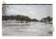 Ice On The Ipswich River Carry-all Pouch