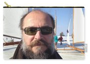 Ice Sailing On The Hudson Beard Contest Carry-all Pouch