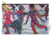 Ice Skaters  Carry-all Pouch by Ernst Ludwig Kirchner