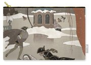 Ice Skating On The Frozen Lake Carry-all Pouch by Georges Barbier