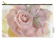 Iced Cup Cake With Sugared Pink Roses Carry-all Pouch