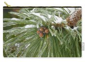 Iced Over Pine Cones Carry-all Pouch