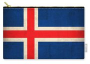 Iceland Flag Vintage Distressed Finish Carry-all Pouch by Design Turnpike