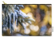 Icicles On Fir Tree In Winter Carry-all Pouch by Elena Elisseeva