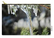 Icicles On Juniper Branch Carry-all Pouch