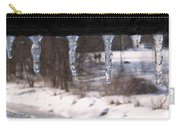 Icicles On The Bridge Carry-all Pouch