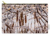 Icy Cattails Carry-all Pouch