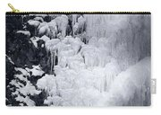 Icy Cliff - Black And White Carry-all Pouch