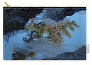 Icy Evergreen Reflection Carry-all Pouch