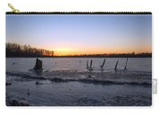 Icy Lake Sunset Carry-all Pouch