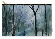 Icy Path - Palette Knife Oil Painting On Canvas By Leonid Afremov Carry-all Pouch