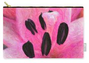 Icy Pink - Digital Painting Effect Carry-all Pouch