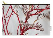Icy Red Dogwood Carry-all Pouch