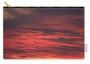 Icy Red Sky Carry-all Pouch