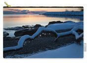 Icy Snowy Winter Sunrise On The Lake Carry-all Pouch