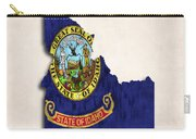 Idaho Map Art With Flag Design Carry-all Pouch