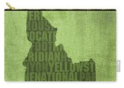 Idaho State Word Art Map On Canvas Carry-all Pouch