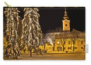 Idylic Winter Cityscape Evening In Snow Carry-all Pouch