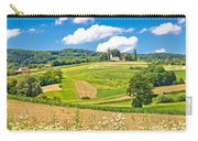 Idyllic Agricultural Landscape Panoramic View Carry-all Pouch