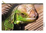 Iguana On The Deck At Mammacitas Carry-all Pouch