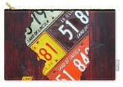 Illinois License Plate Map Carry-all Pouch
