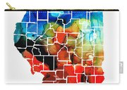Illinois - Map Counties By Sharon Cummings Carry-all Pouch