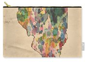 Illinois Map Vintage Watercolor Carry-all Pouch