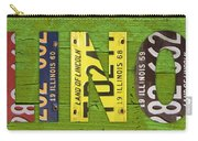 Illinois State Name License Plate Art Carry-all Pouch