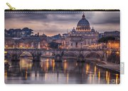 Illuminated Bridge In Rome Italy Carry-all Pouch