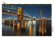 Illuminated Brooklyn Bridge By Night Carry-all Pouch
