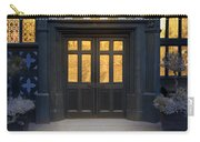 Illuminated Doorway To A Timber Framed Tudor House Or Mansion At Carry-all Pouch