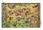 Illustrated Map Of Arizona Carry-all Pouch