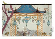 Illustration For 'fetes Galantes' Carry-all Pouch