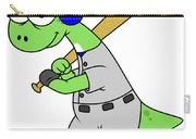 Illustration Of A Brontosaurus Baseball Carry-all Pouch by Stocktrek Images