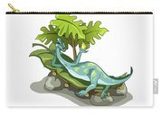 Illustration Of An Iguanodon Sunbathing Carry-all Pouch by Stocktrek Images