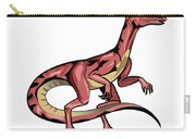 Illustration Of Velociraptor Carry-all Pouch